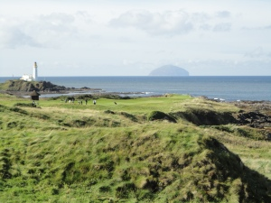 Turnberry Lighthouse and Ailsa Craig Scotland